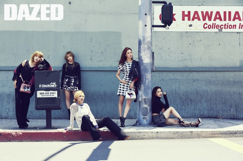 4Minute - Dazed and Confused Magazine August Issue '15