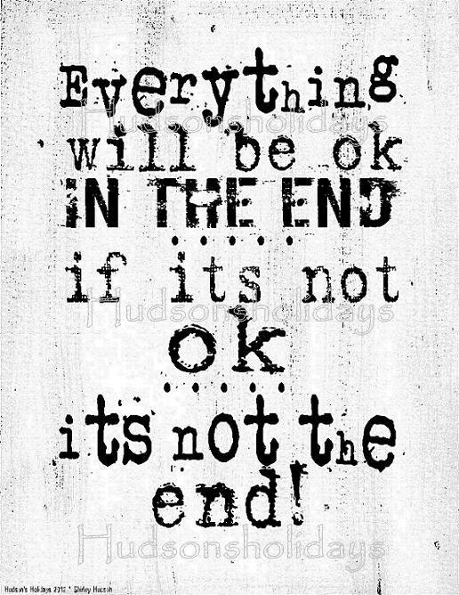 Everything will be ok sign digital   - white uprint NEW art words vintage style primitive paper old pdf 8 x 10 frame saying
