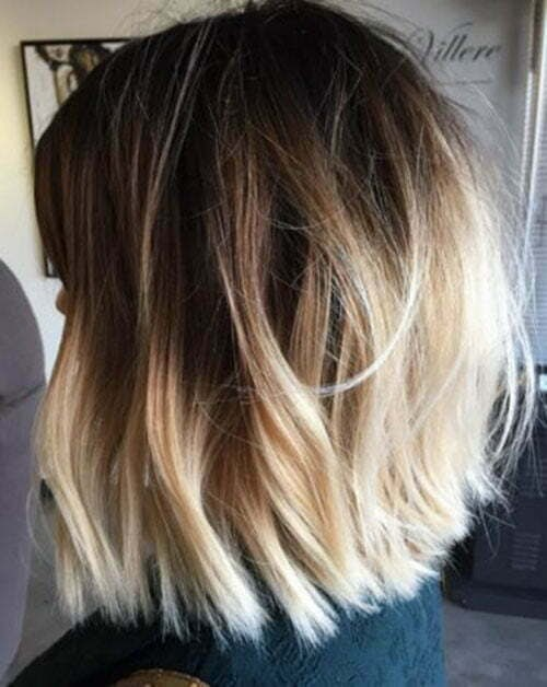 Ash Brown To Blonde Ombre Short Hair