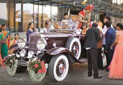 Weddings get a royal makeover with vintage cars   Kolkata