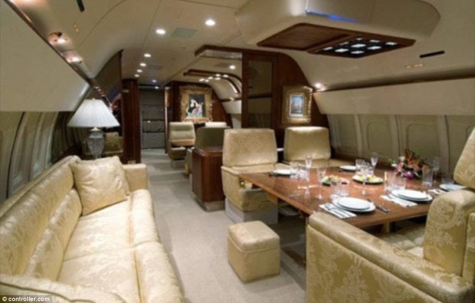 Bespoke: Donald Trump bought his private jet from Microsoft executive Paul Allen for $100 million in 2010 and then he customized it. It includes a cinema room and little extras like gold faucets and seat buckles