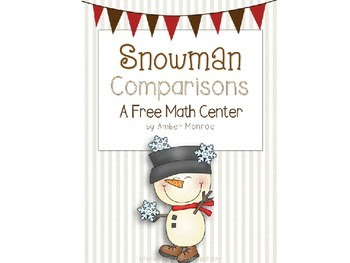 Snowman Comparisons {A Free Math Center}