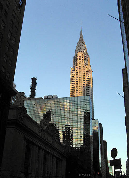 The Chrysler Building at sunset, NYC