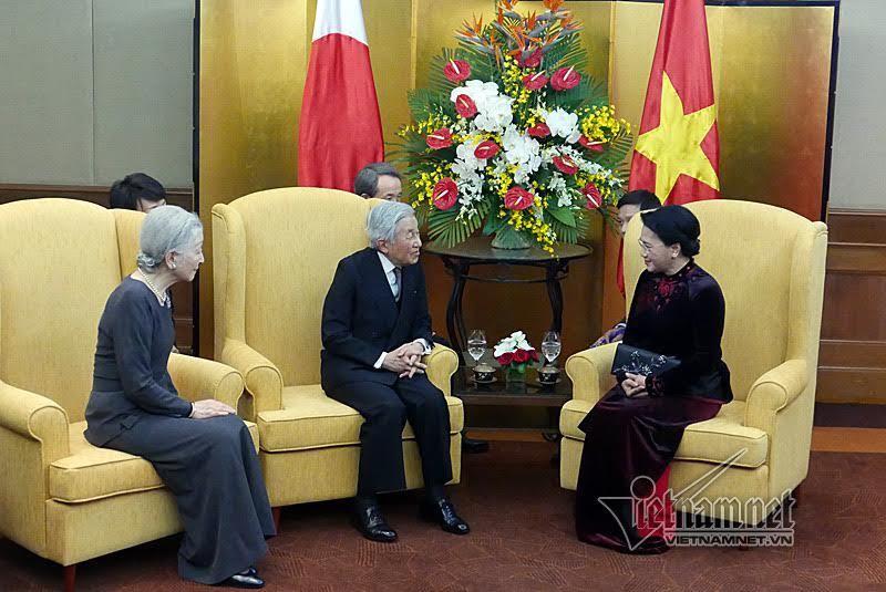 Nhà vua Nhật Bản, Nhật Hoàng, Hoàng hậu Nhật Bản, Chủ tịch Quốc hội, Nguyễn Thị Kim Ngân