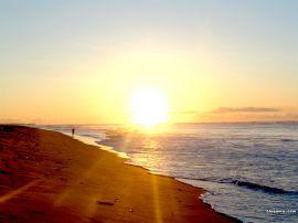 Papel de parede 'Por-do-sol na praia'