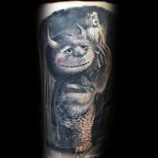 40 Where The Wild Things Are Tattoo Designs For Men Book Ideas