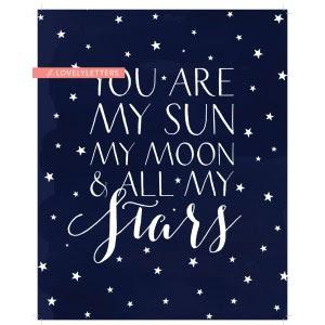 Genial Stars Game Stars Quote Hand Drawn Vintage My Moon Stars Gif