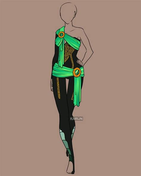 neon green  black   clothing sketches drawing