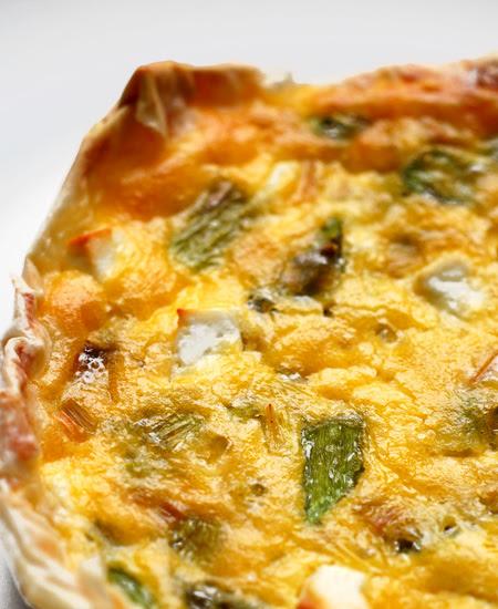 leek, asparagus and goat feta tarts© by Haalo,