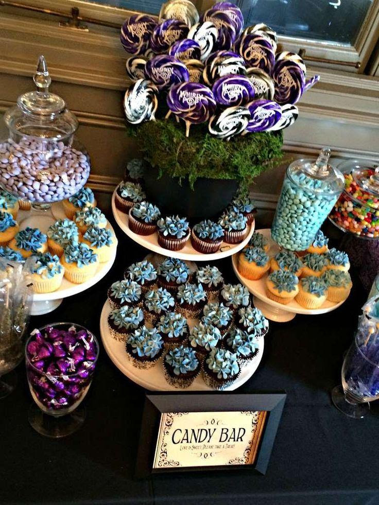 Black White Purple Blue Bridalwedding Shower Party Ideas