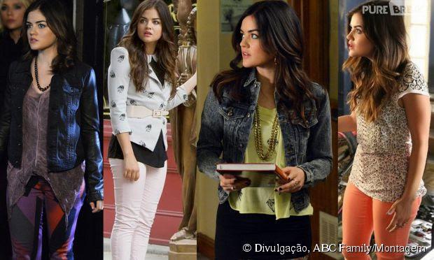 Quando usa calças, Aria (Lucy Hale) gosta de ousar!