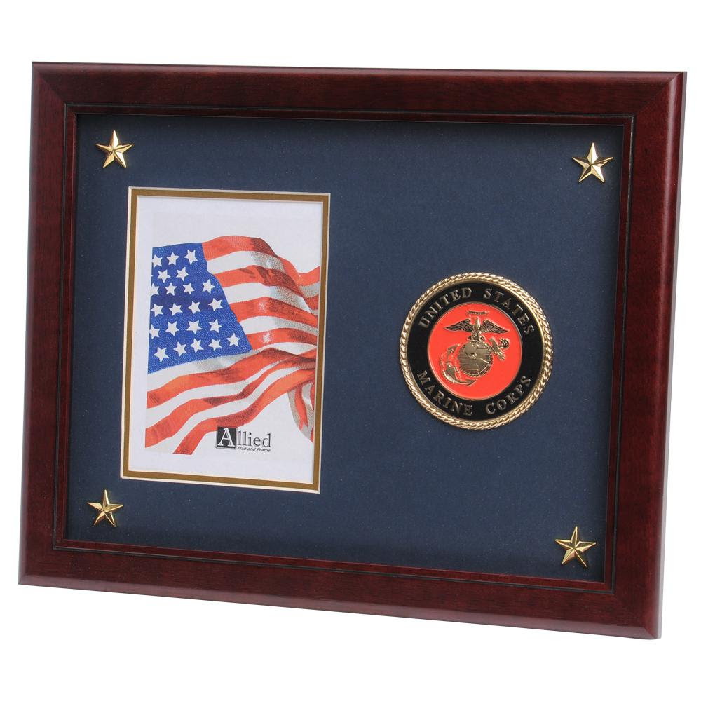 Us Marine Corps Medallion 5 Inch By 7 Inch Picture Frame With Stars
