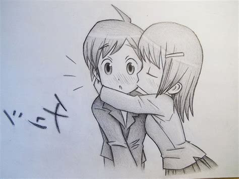 boy  girl love sketch images cute boy  girl kiss