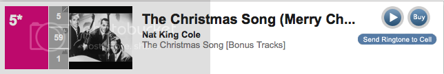 #5 Nat King Cole The Christmas Song