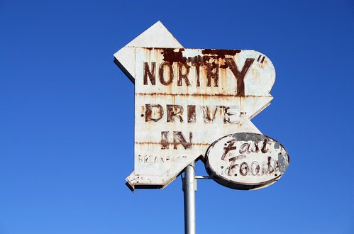 "north ""y"" drive-in old neon sign"