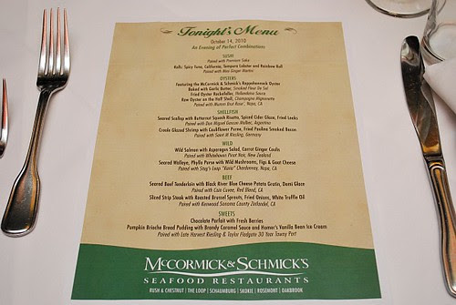 McCormick & Schmick's: An Evening of Perfect Combinations