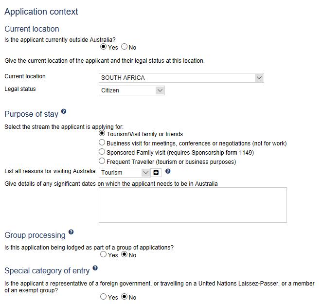 Australian Visa Application Form For Business, Contextual Questions To Place Your Australian Visa Application, Australian Visa Application Form For Business