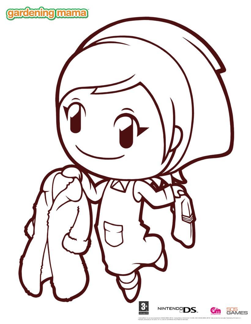 Dibujos Para Colorear Gardening Mama 1 Eshellokidscom