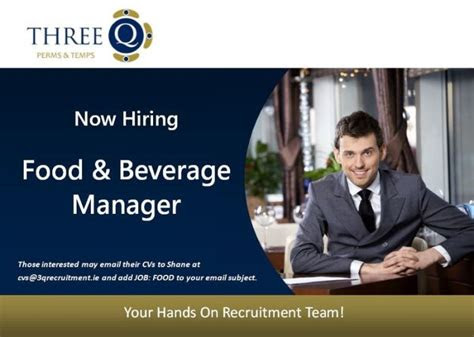 perms jobs food  beverage manager dublin north