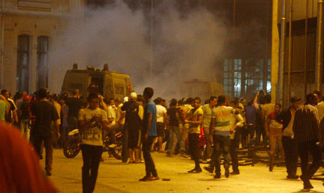 Egyptians clash with security forces in Cairo on July 15, 2013. Demonstrators expressed opposition to the military coup that displaced President Mohamed Morsi. by Pan-African News Wire File Photos
