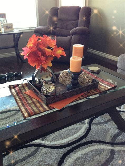 fall coffee table decor ideas digsdigs