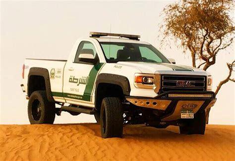 gmc sierra pickup joins dubai police fleet