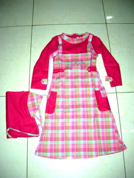 version baju gamis batik anak perempuan