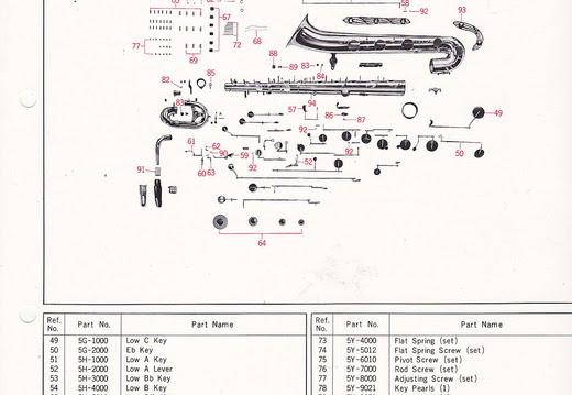 Japanese Makes Models Yamaha Parts Lists Ybs 61