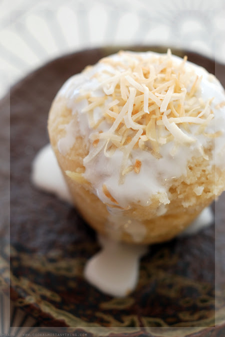 Coconut and Pineapple Steamed Pudding© by Haalo
