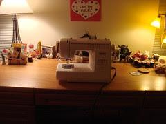 My sewing desk.  Jan 11, 2009