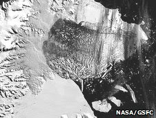 Larsen ice sheet (Nasa)