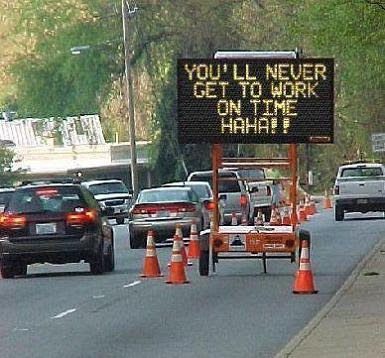 funny traffic sign