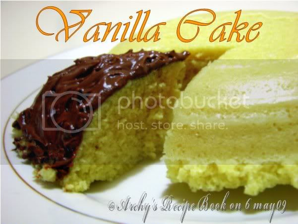 Microwave Eggless Vanilla cake