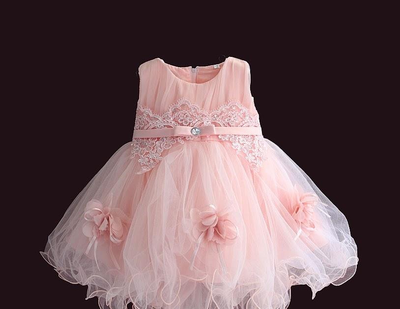 af6fd29124 Comprar Bebé Niña Vestido Flor Rosa Sin Mangas De Boda La Princesa Vestidos  Bautismo 1 Año Infantil 6M 4Y Online Baratos