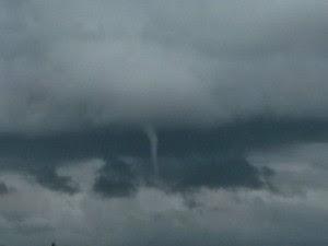 Após fenômeno, não choveu nem houve vento forte (Foto: Mari Claudia Possato/Arquivo Pessoal)