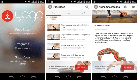 aplikasi yoga gratis android