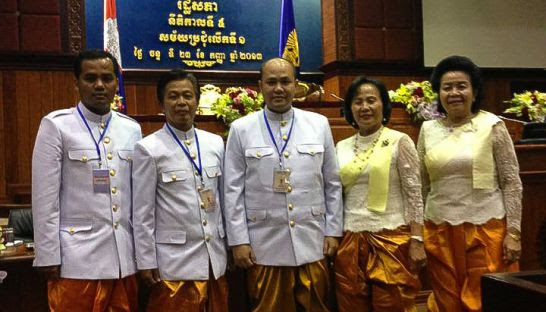 CPP lawmaker Lok Hour (second left) appears at a parlimentary event in 2013. Photo supplied