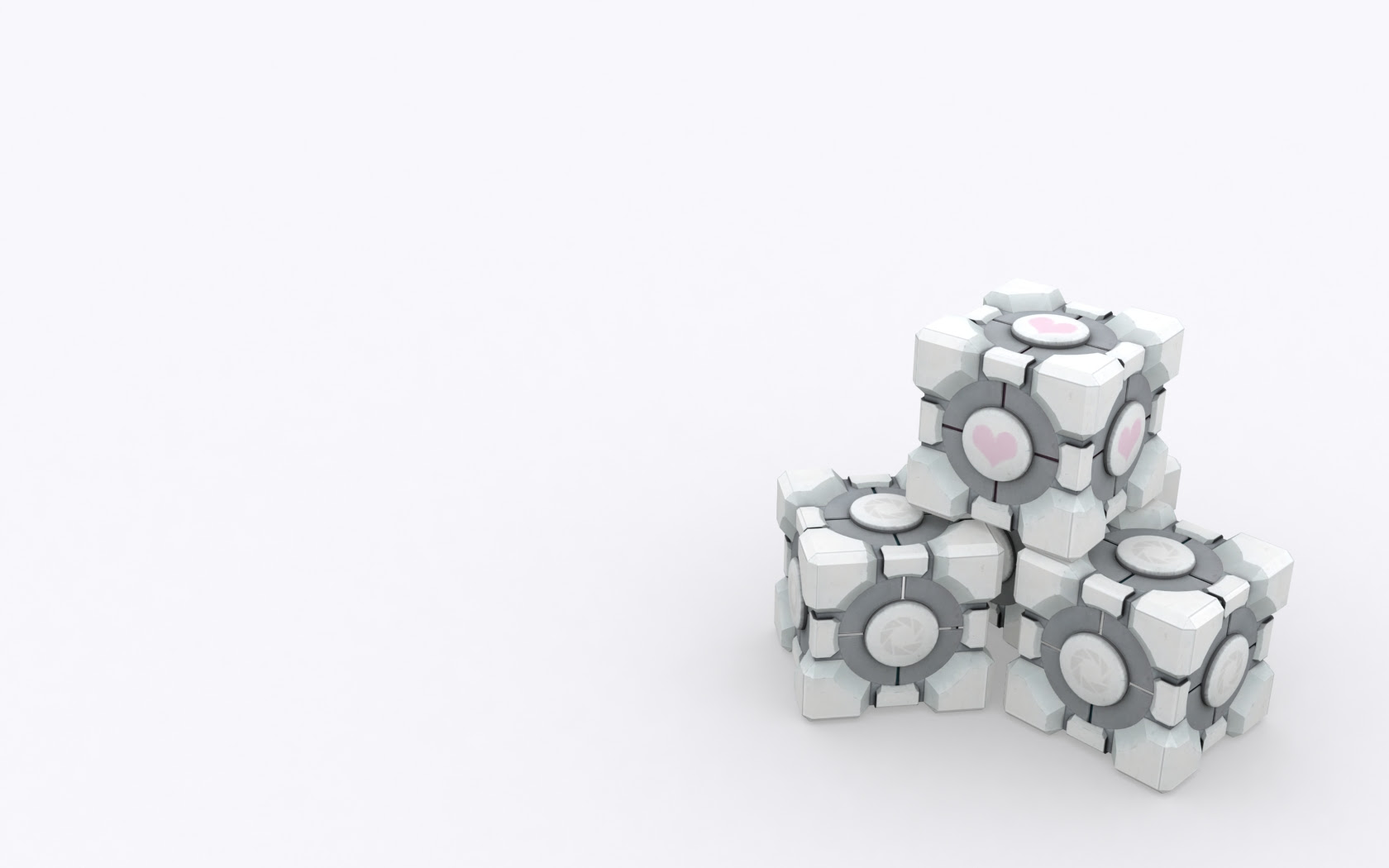 Of course we also need a Portal wallpaper with the companion cube, right?
