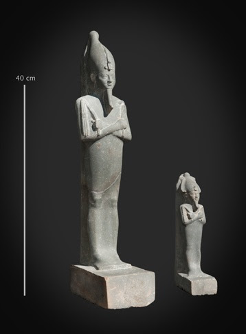 Osiris statuette and figurine