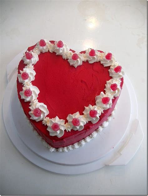 161 best images about Decorated heart cakes on Pinterest