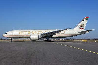 Etihad Airways Cargo (Etihad Airways) Boeing 777-FFX A6-DDB (msn 39692) AMS (Ton Jochems). Image: 911559.
