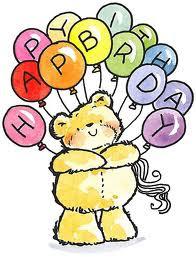 Imagenes de cumpleaños de oso con globos
