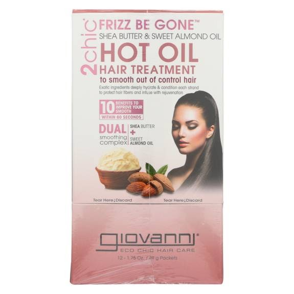Giovanni Hair Care Products 2Chic Hot Oil Shea Butter Almond Case of 12 1.75 fl oz