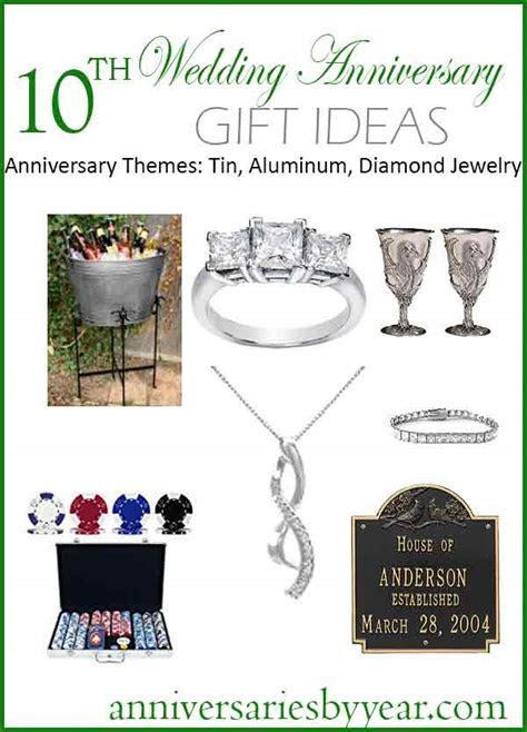 Tenth Anniversary   10th Wedding Anniversary Gift Ideas