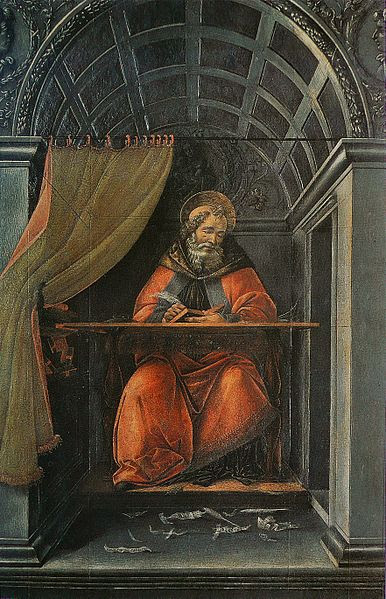 Archivo: Sandro Botticelli - St Augustin dans hijo gabinete de travail.jpg