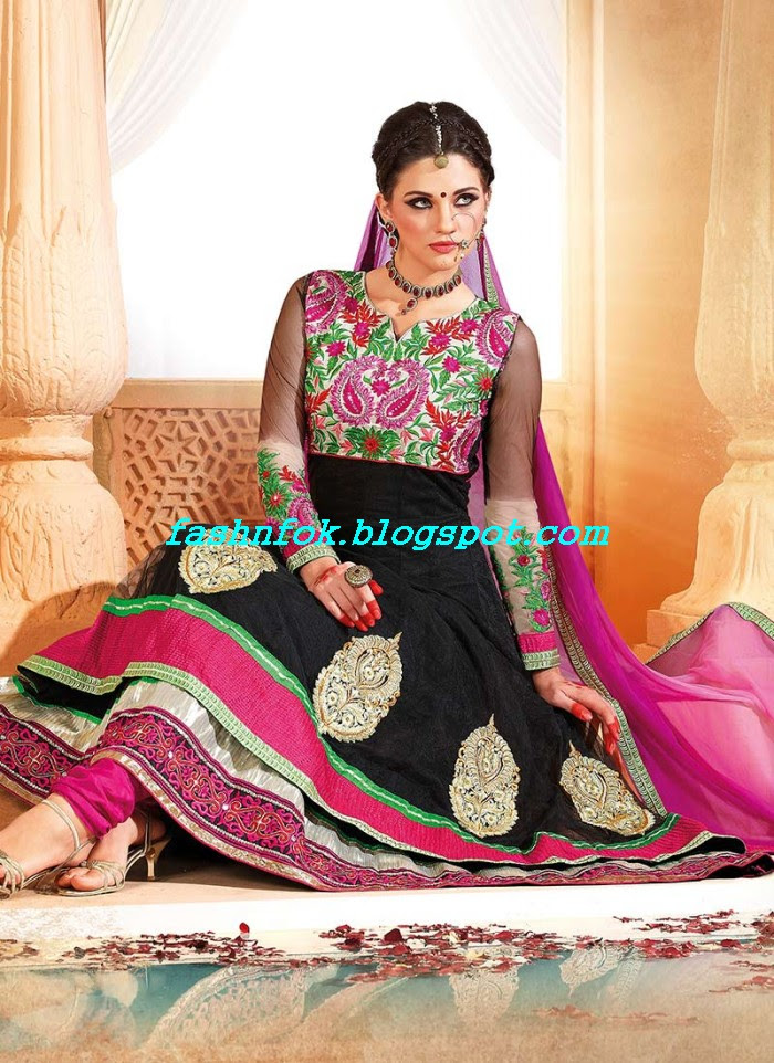 Beautiful-Anakrali-Umbrella-Frock-With-Churidar-Pajama-New-Fashion-Suits-2013-14-by-Designer-Amna-2