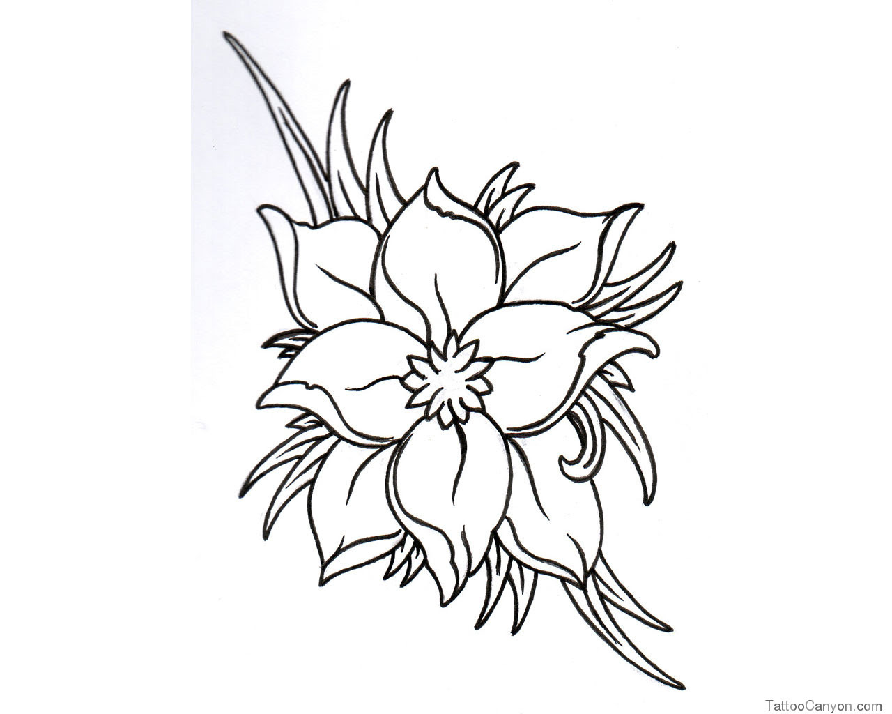 Free Black And White Flower Tattoo Designs Download Free Clip Art