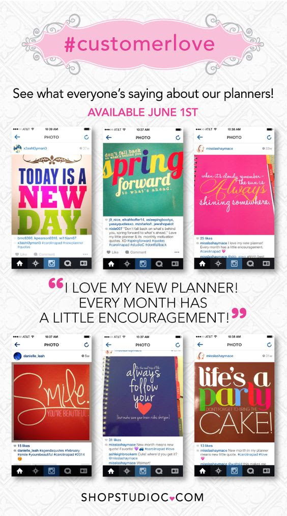 Studio C planners will be available online June 1st! #planners ...