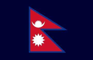 Bandera De Nepal - Lámina 45 X 30 Cm.