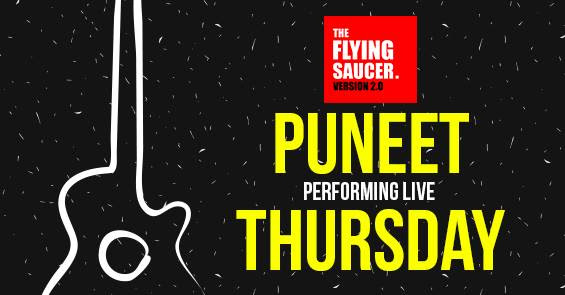Acoustic Session Puneet Flying Saucer Cafe Creative